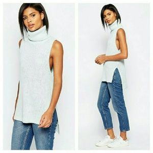 Brave Soul by ASOS sleeveless turtleneck sweater